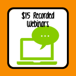 $15 Recorded Webinars